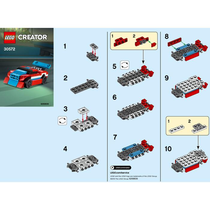Lego Race Car Instructions