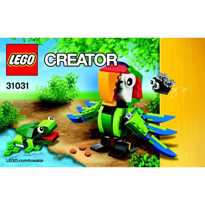 Lego Rainforest Animals Set 31031 Instructions Brick Owl Lego