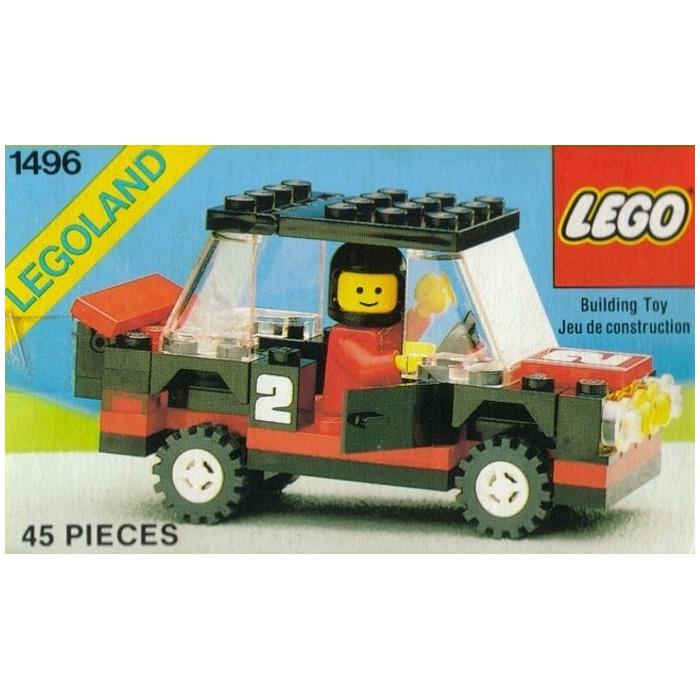 lego rally car set 1496 inventory brick owl lego. Black Bedroom Furniture Sets. Home Design Ideas