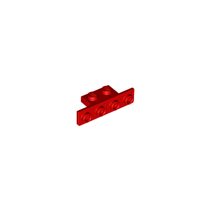 Lego Lot of 5 New Red Brackets 1 x 2-1 x 4 with Rounded Corners Parts Pieces