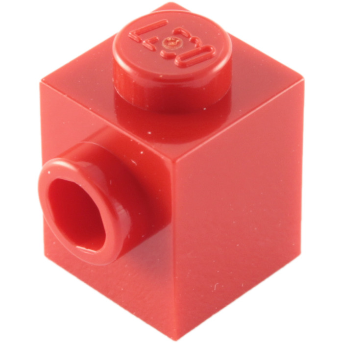 Lego 5 New Red Bricks Modified 1 x 1 with Stud on 1 Side Pieces Parts