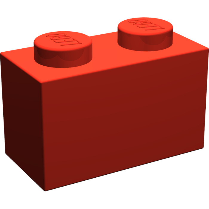 LEGO Red Brick 1 x 2 without Bottom Tube | Brick Owl - LEGO Marketplace