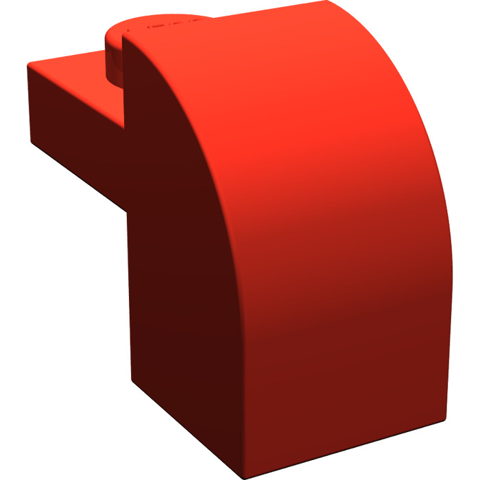 LEGO NEW 1x2x1.33 Red Brick with Curved Top 10x 609121 6184782 Brick 6091