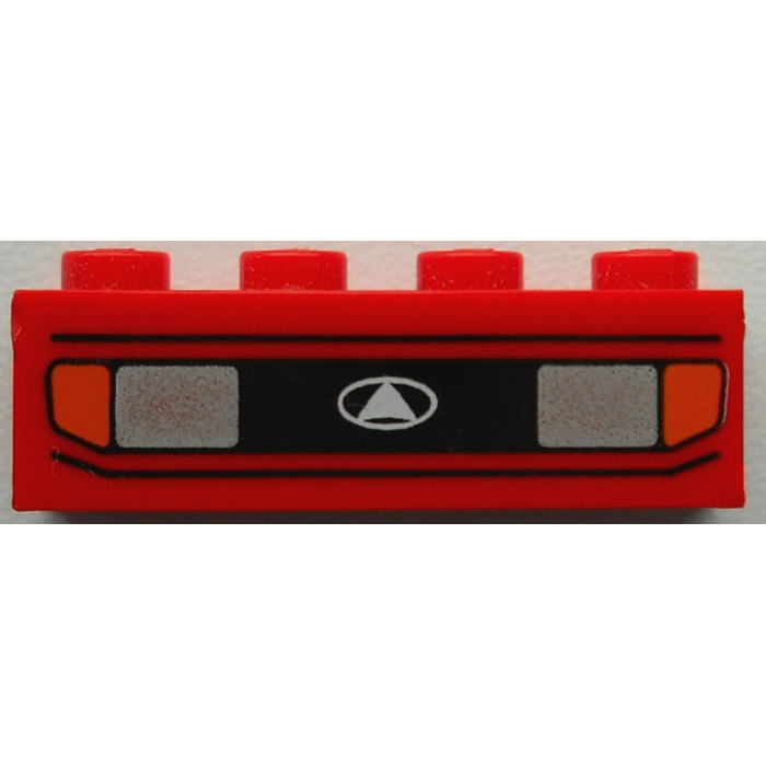 1x Brick Brique 1x4 Car Headlights Blinkers Pattern 3010px1 Red Lego