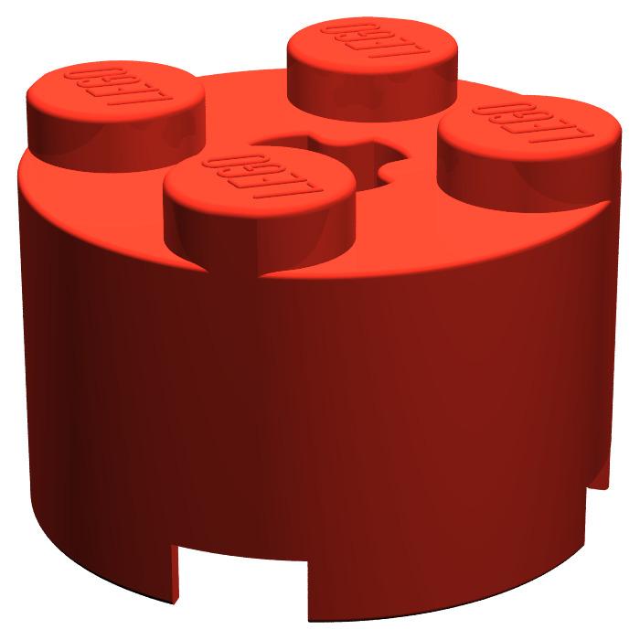 ###   NEW RED  ROUND BRICK x 7 PART No 3941   ###