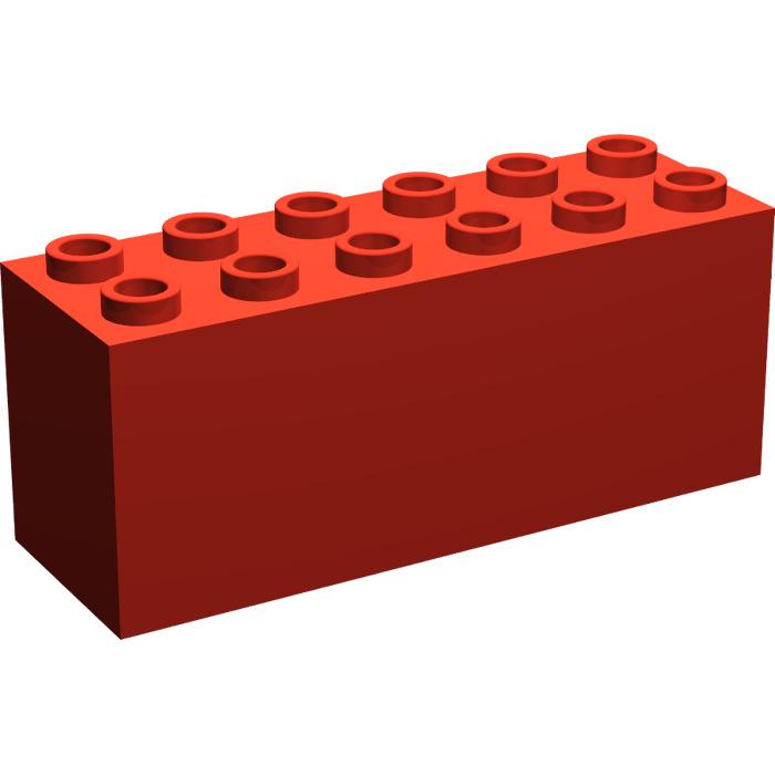 25  Pieces  NEW Lego Red Blocks Bricks 1 x 2