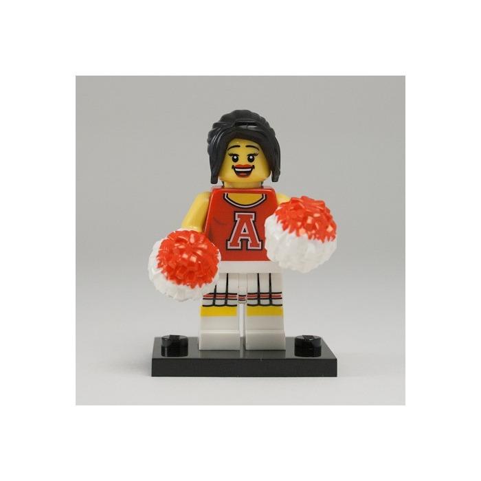 LEGO RED CHEERLEADER minifigure LEGO MINIFIGURE SERIES 8 complete figure