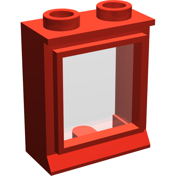 Lego rouge classic window 1 x 2 x 2 with fixed glass for Fenetre lego
