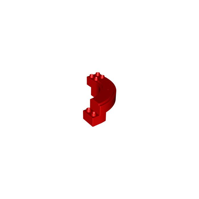 Lego Fabuland 2040 Fence Barrière 1x 6 x 2 Rounded Red Rouge du 3662 double Bus