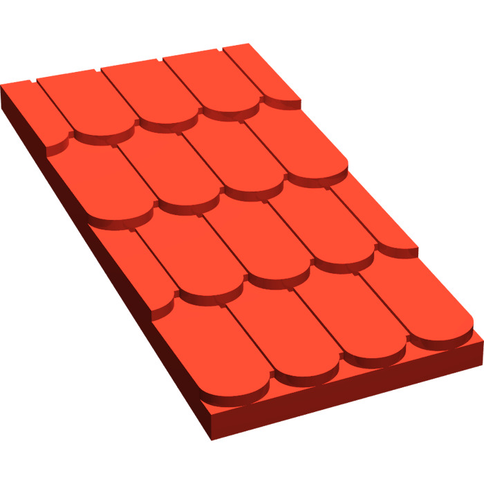 Lego Fabuland Roof Slope Without Top Hole 4323 Brick