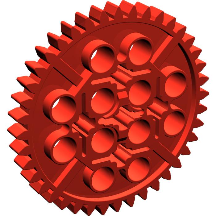 LEGO Red Gear with 40 Teeth (3649)