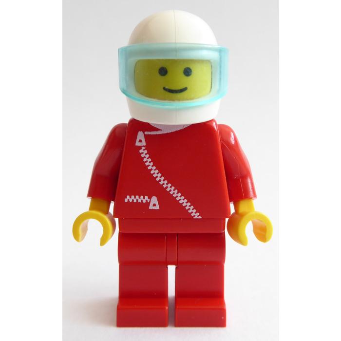 LEGO Red City Minifigure Racing Helmet with Blue Visor
