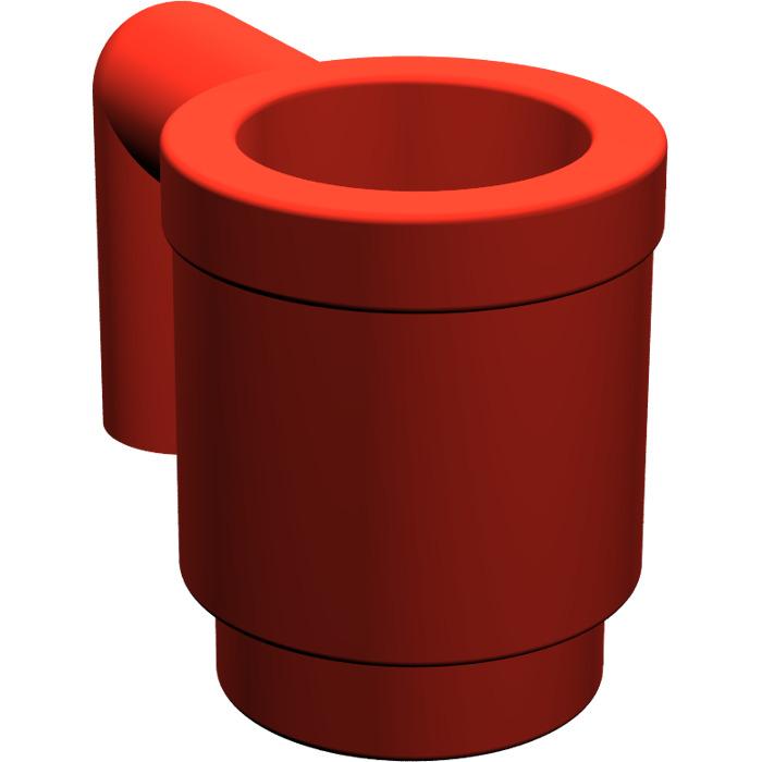 5x LEGO NEW Red Mug 389921 Brick 3899