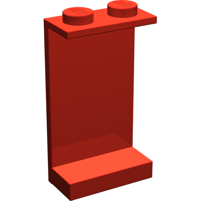 LEGO Red Panel 1 x 2 x 3 without Side Supports, Solid Studs (2362 ...