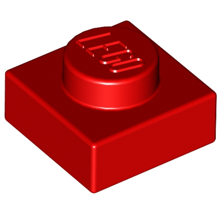 FREE P/&P 3024 20x LEGO Red 1x1 Plate NEW Part Piece City Creator