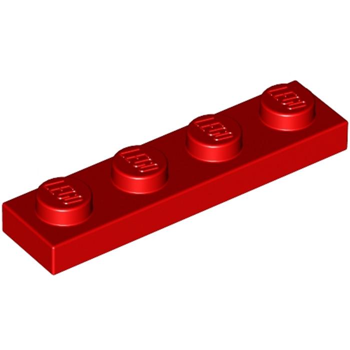 LEGO® - Platte 50Stk 3710-10 1x4 Hellgrau Lightbluishgray Plates