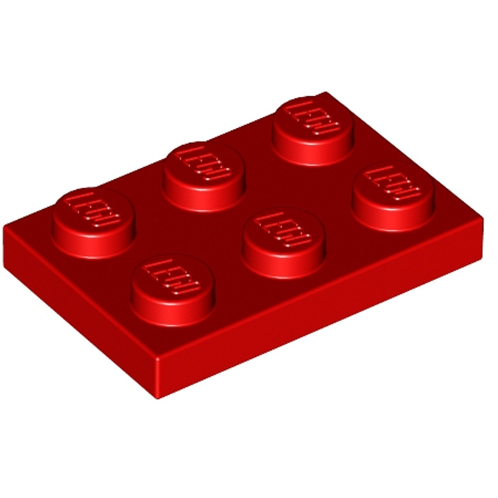 LEGO 10x Plate 2x3 in Red Part no.3021