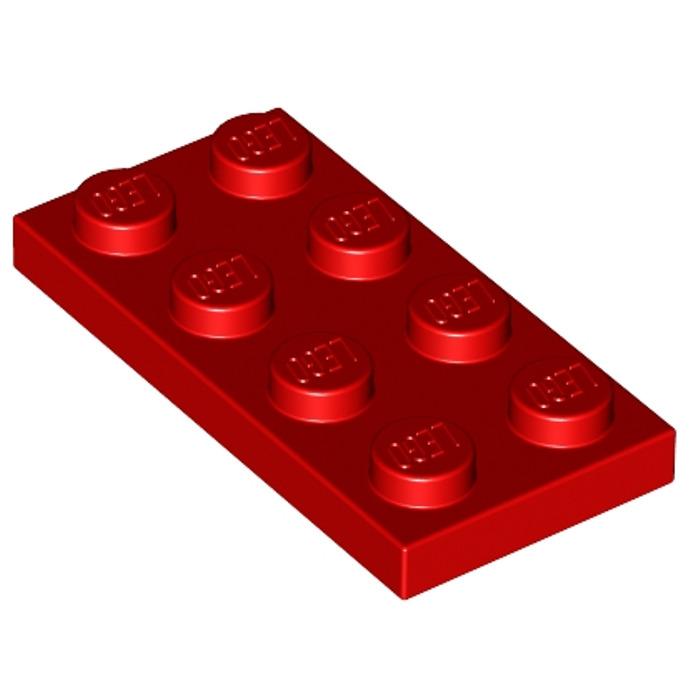 LEGO 20 x plaque plate Bauplatte 3020 2x4 d/'brun rouge