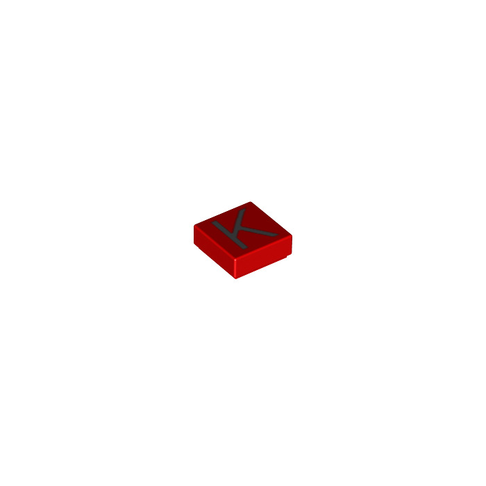 Lego tile 1 x 1 with letter k decoration with groove for Letter k decoration