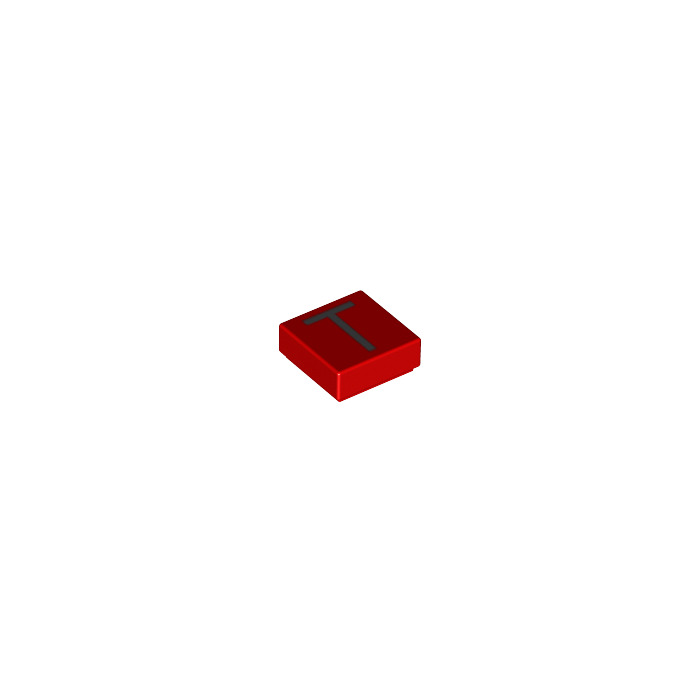 Lego tile 1 x 1 with letter t decoration with groove for Letter t decoration