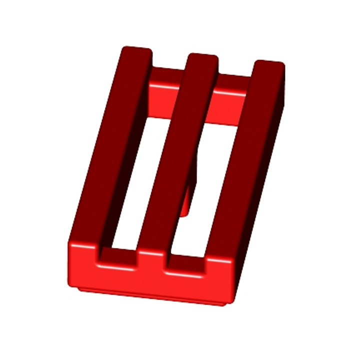 Lego 2412 # 26x Grille Tile 1x2 Red