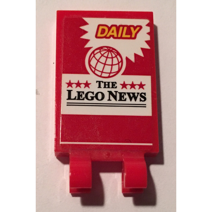 LEGO Red Tile 2 X 3 with Horizontal Clips with Sticker from Set ...