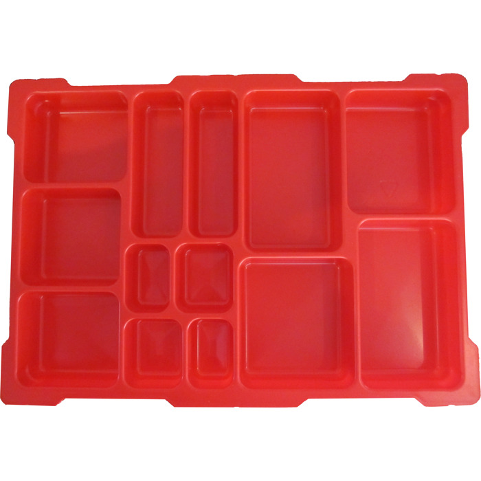 LEGO Red Top Tray For Lego Education Storage Bin   13 Compartments (54572)