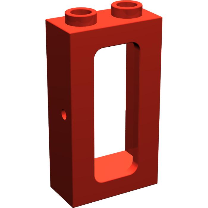 Lego red train window 1 x 2 x 3 4035 brick owl lego for 2 x 3 window
