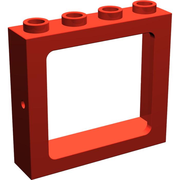 Lego red train window 1 x 4 x 3 4033 brick owl lego for 2 x 3 window