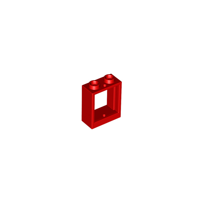Lego rouge window 1 x 2 x 2 without sill 60592 brick for Fenetre lego