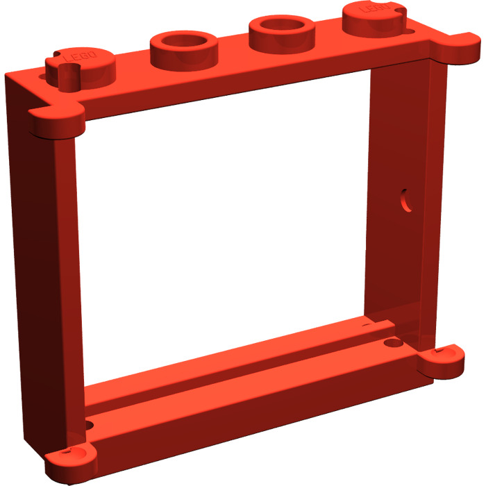 LEGO WINDOW FRAME PART 3853 WITH SHUTTER TABS x 1 red//blue