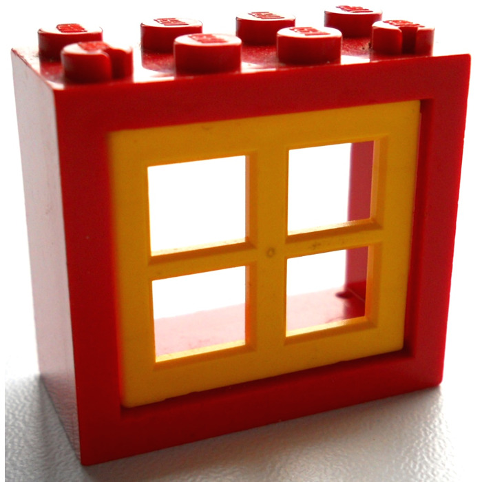 Lego window 2 x 4 x 3 with rounded holes 4132 brick for 2 x 3 window