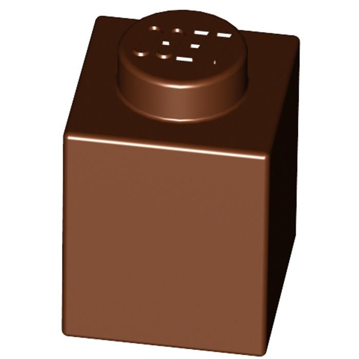 New Neuf 30071 35382 Lego 3005-10x Briques // Brick 1x1 Reddish Brown