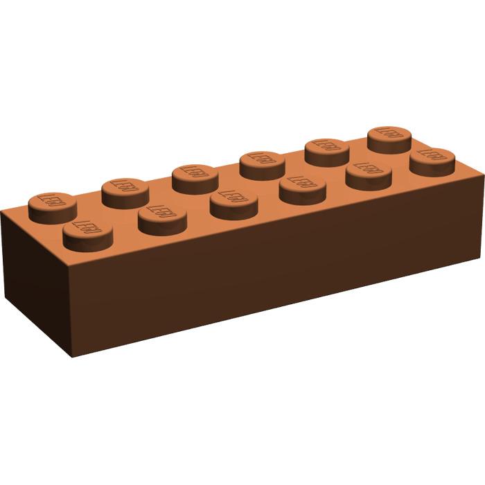 4 x LEGO 44237 Brique reddish brown NEUF NEW marron Brick 2x6