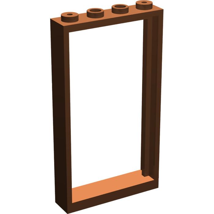 Lego Reddish Brown Door Frame 1 X 4 X 6 Double Sided Brick Owl