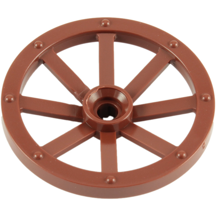 Lego large wagon wheel mm diameter with notched hole for