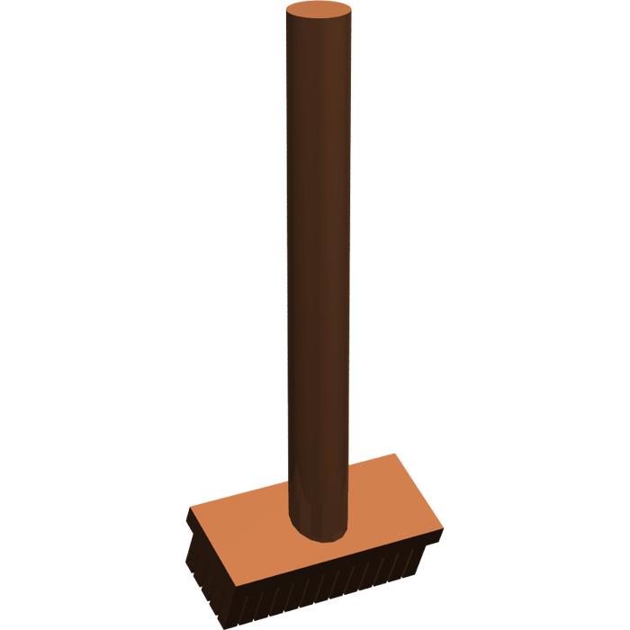 Lego 3836 Broom in Reddish brown