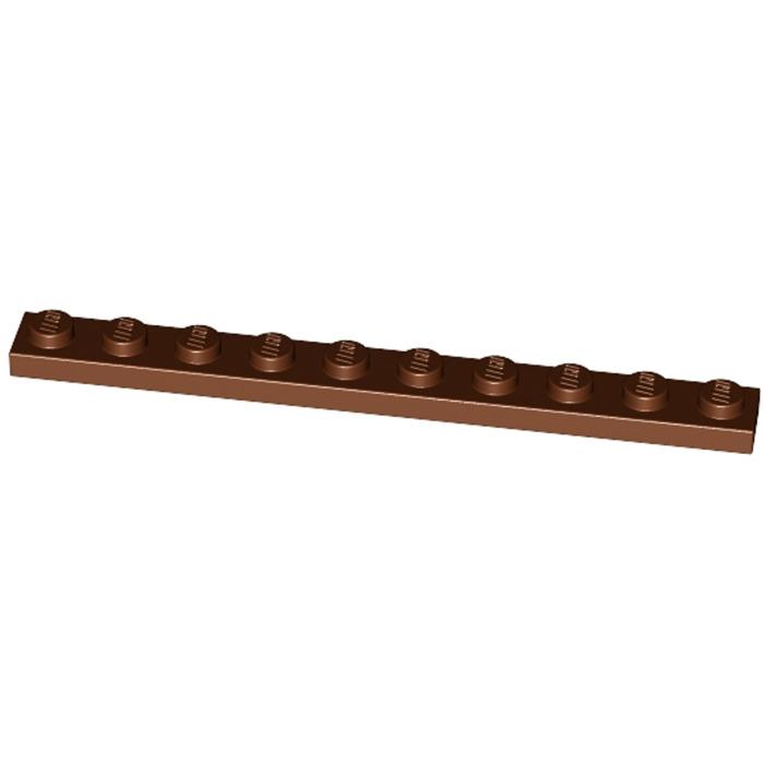 LEGO NEW 1x10 Reddish Brown Plate 4223683 Brick 4477 5x