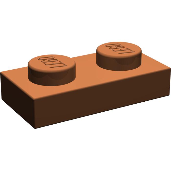 NEUF NEW reddish brown 10 x LEGO 3023 Plaque marron Plate 1x2