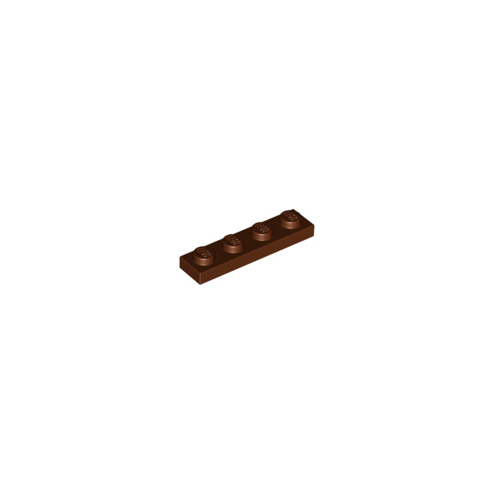 LEGO PART 3710 REDDISH BROWN 1 X 4 FOR 15 PIECES