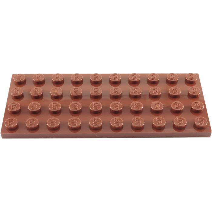 Lego Basic 10 X Plate 4x6 Black 3032 4 x 6