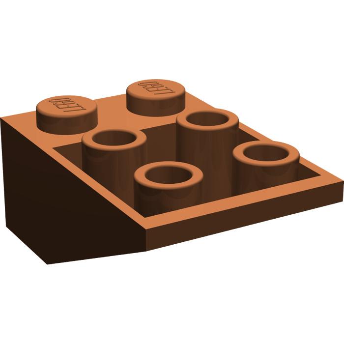 LEGO® Reddish Brown Slope Inverted 33 3 x 2 Design ID 3747b