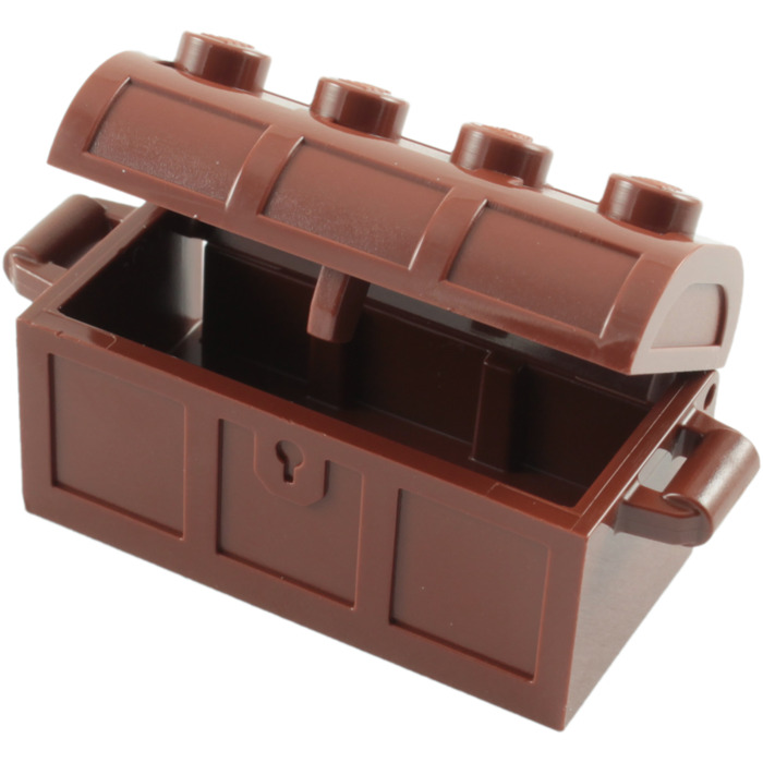 LEGO Treasure Chest With Lid Thick Hinge Slots In