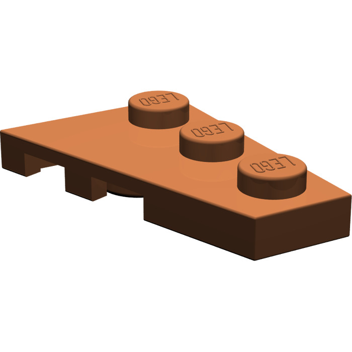 Lego Lot of 5 New Reddish Brown Wedges Plate 3 x 2 Left Wings Only Parts