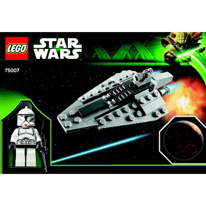 Lego Republic Assault Ship Planet Coruscant Set 75007 Instructions