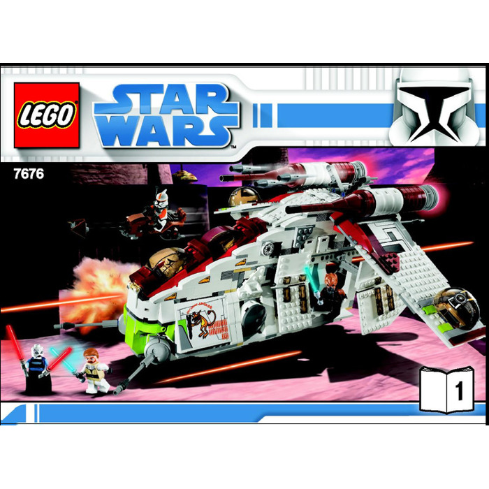 Lego Republic Attack Gunship Set 7676 Instructions Brick Owl