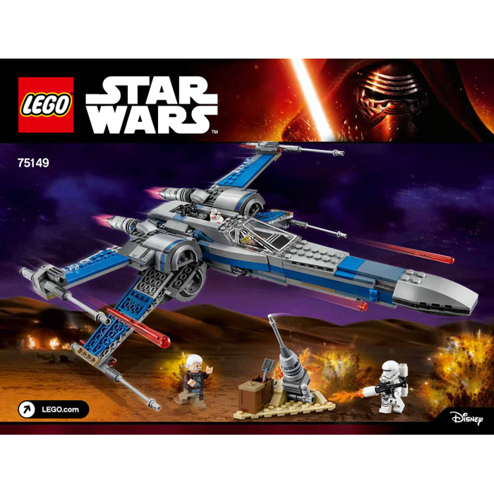 Lego Resistance X Wing Fighter Set 75149 Instructions Brick Owl