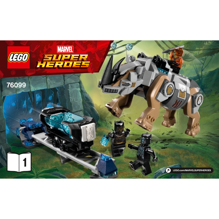 Lego Rhino Face Off By The Mine Set 76099 Instructions Brick Owl