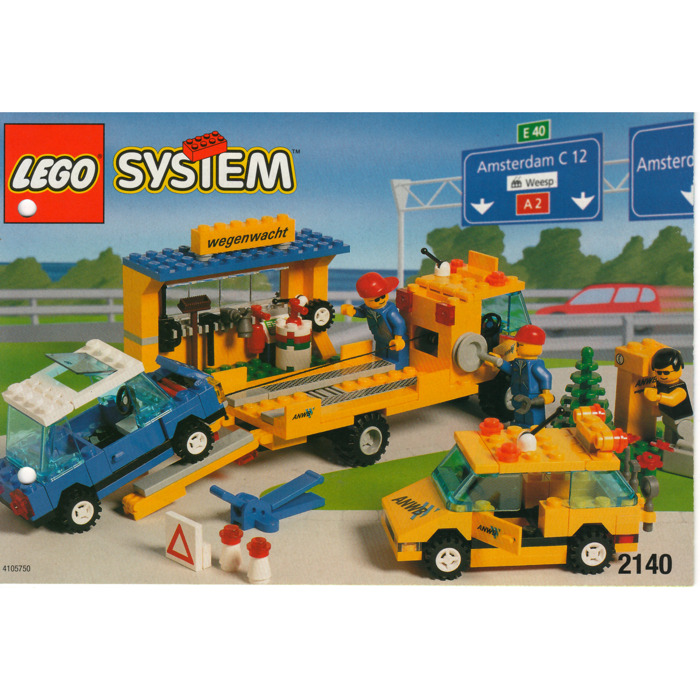Lego Roadside Recovery Van And Tow Truck Set 2140 Instructions