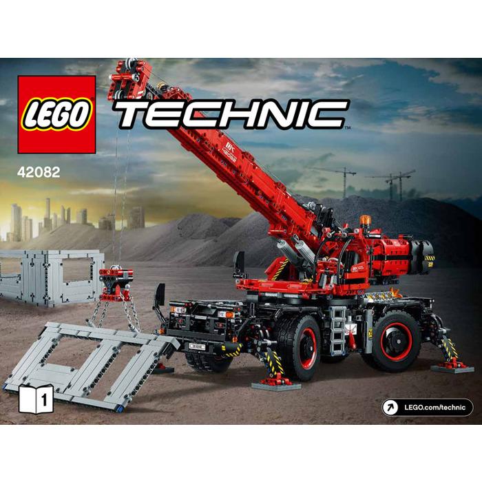 Lego Technic 42082 Rough Terrain Crane Instruction Manual Only Part 1 /& 2